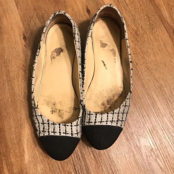 9587d5eeb03b Ivanka Trump Shoes | Tweed Round Toe Well Worn Flat | Poshmark
